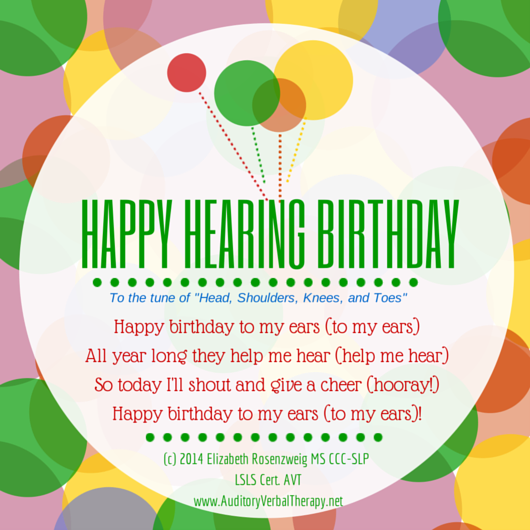 Hearing Birthday Song-2